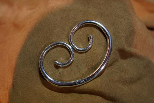 写真:ハート型キーホルダー(Silver)