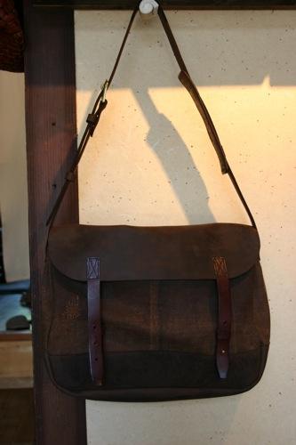 写真:ショルダーバッグ(酒袋+ヌバック)