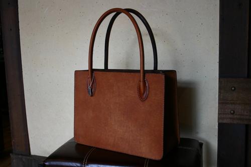 写真:手縫い Tote bag (Sample)